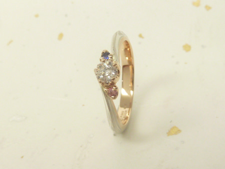 13033101木目金の婚約指輪_U001.JPG