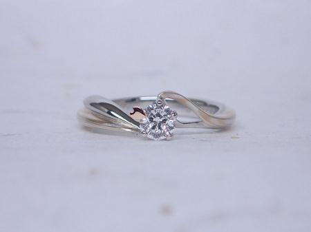 15101801木目金の婚約指輪と結婚指輪_M004①.JPG