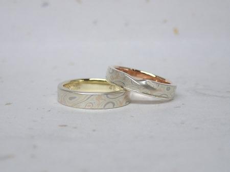 15101801木目金の婚約指輪と結婚指輪_M004②.JPG