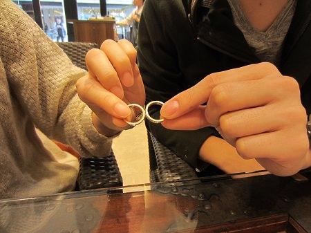 15112904木目金の婚約指輪・結婚指輪K_002①.JPG