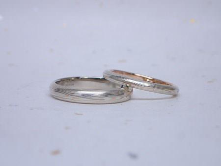 15112904木目金の婚約指輪・結婚指輪K_002④.JPG
