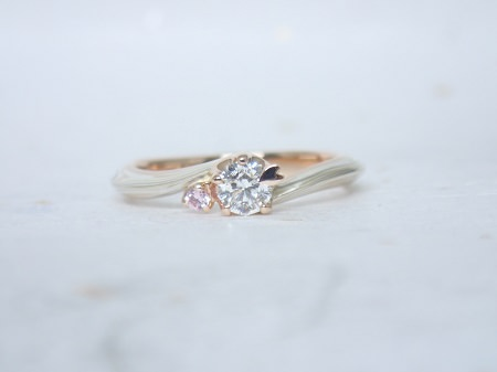 16072302木目金の婚約指輪と結婚指輪M_004①.JPG