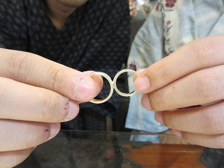 16073101木目金の結婚指輪K (1).JPG