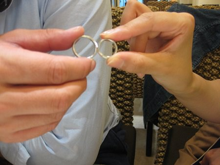 16083102木目金の結婚指輪_G001.JPG