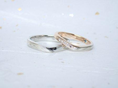 18031701木目金の婚約指輪、結婚指輪B_004.JPG