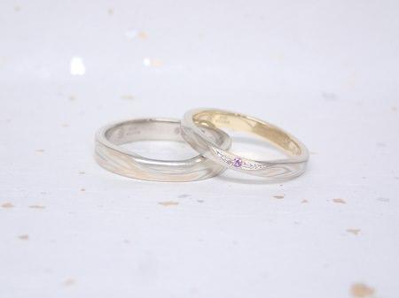 18060301杢目金の結婚指輪_C04.JPG