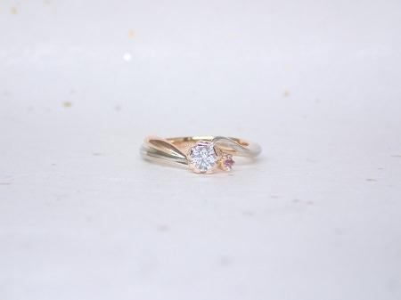 18070102杢目金の婚約指輪と結婚指輪_A004①.JPG