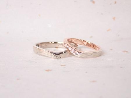 18100201木目金の婚約指輪と結婚指輪_Q004②.JPG