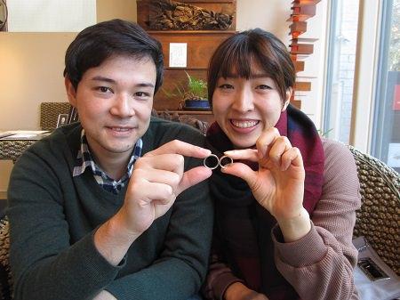181222003木目金の婚約指輪と結婚指輪_M001.JPG