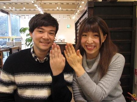 181222003木目金の婚約指輪と結婚指輪_M003.JPG
