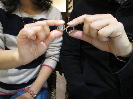 18122304木目金の婚約指輪と結婚指輪_M001.JPG