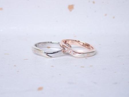 18122304木目金の婚約指輪と結婚指輪_M004.JPG