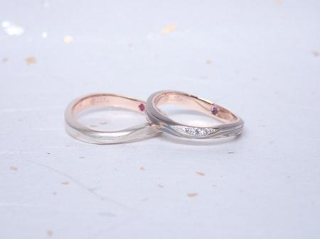 19030401木目金の婚約指輪と結婚指輪_Q004②.JPG