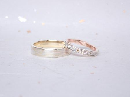 19031002木目金の婚約指輪と結婚指輪_A004.JPG