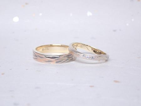 19041401婚約指輪と木目金の結婚指輪_A004②.JPG