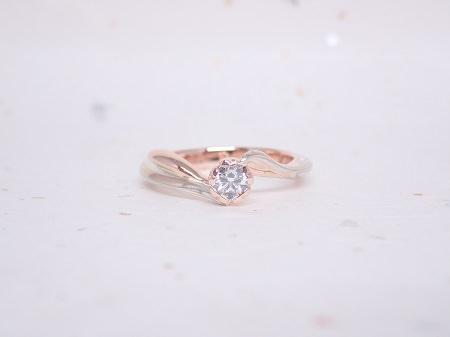 19060902木目金の結婚指輪と婚約指輪_D004.JPG
