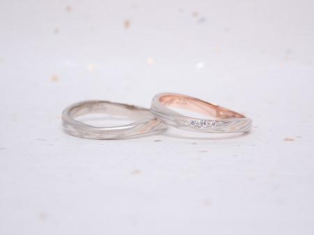 19061001木目金の婚約指輪と結婚指輪_004②.JPG