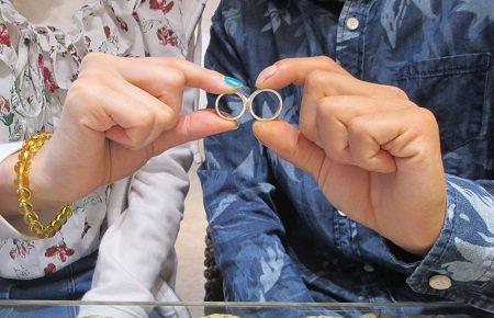 19071501木目金の婚約指輪と結婚指輪_M001.JPG