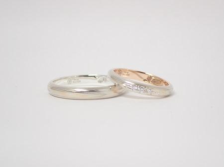 19122901プラチナの婚約指輪と木目金の結婚指輪_A004②.JPG