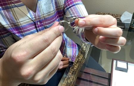 20121302木目金の婚約指輪と結婚指輪_A001.JPG