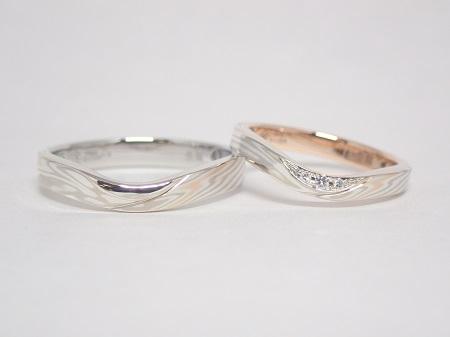 21042703木目金の婚約指輪と結婚指輪‗R004②.JPG