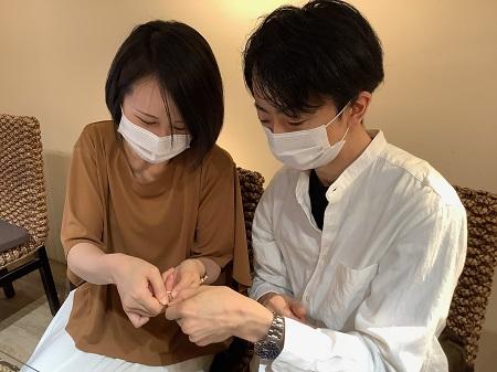 21060604木目金の婚約指輪と結婚指輪_G002.JPG