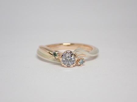 21070405木目金の婚約指輪と結婚指輪_R004①.JPG