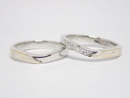 21070405木目金の婚約指輪と結婚指輪_R004②.JPG
