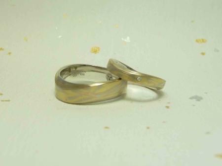 11043003木目金の結婚指輪 表参道本店002.jpg