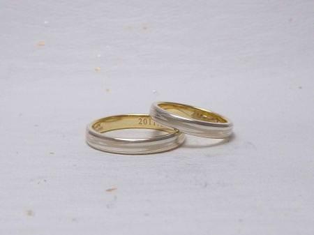 11063002木目金の結婚指輪 表参道本店002.jpg