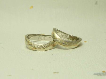 11063003木目金の結婚指輪 表参道本店002.jpg