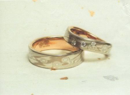 110709木目金の結婚指輪 表参道本店002.jpg