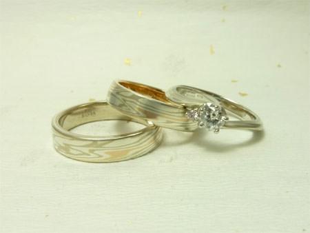 110721木目金の婚約結婚指輪.jpgのサムネール画像