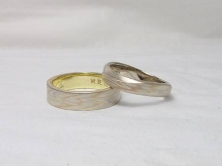 110814木目金の結婚指輪_大阪本店002②