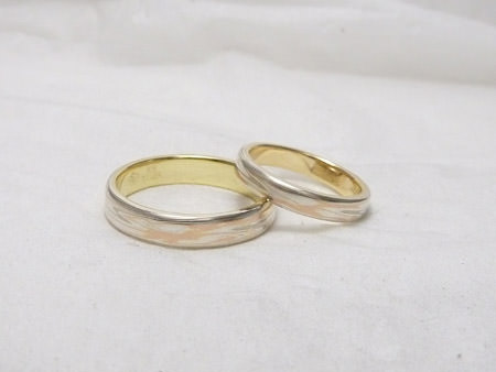 From MOKUMEGANEYA Customer Wedding band and wedding ring with Japanese