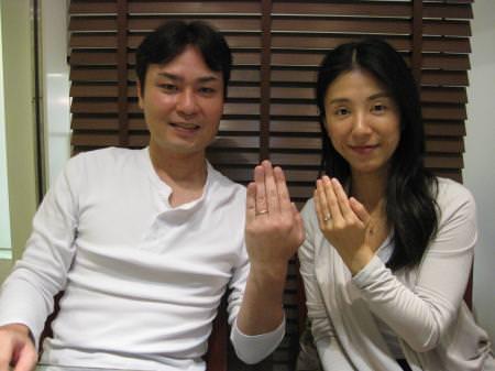 111023木目金の結婚指輪 銀座001.JPG