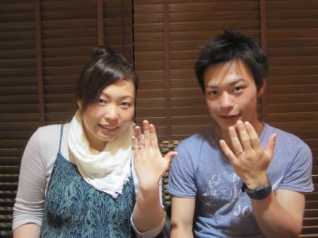 12042904木目金の婚約指輪と結婚指輪_c001.JPG