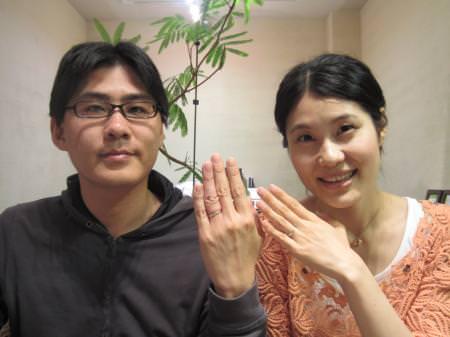 12043001木目金の結婚指輪_心斎橋店001.JPG
