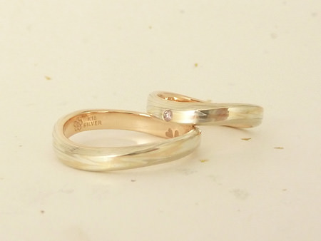 12052501木目金の結婚指輪 銀座店002のサムネール画像