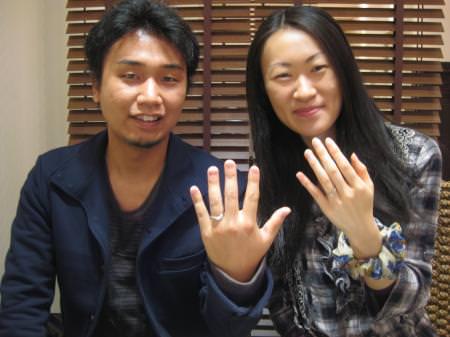 12102701木目金の結婚指輪Y001.JPG