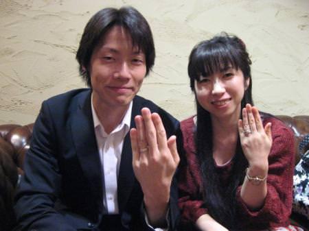 12102703木目金の婚約指輪、結婚指輪_M001.JPG
