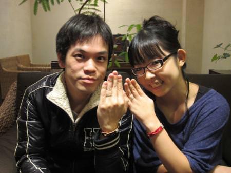 12103001木目金の結婚指輪_心斎橋店001.JPG