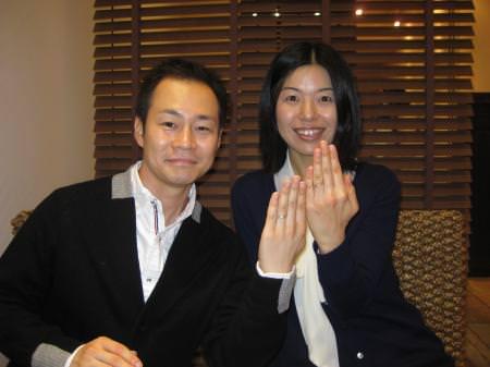 12112406木目金の結婚指輪Y001.JPG
