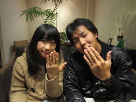 12113001木目金の結婚指輪_心斎橋店001.JPG