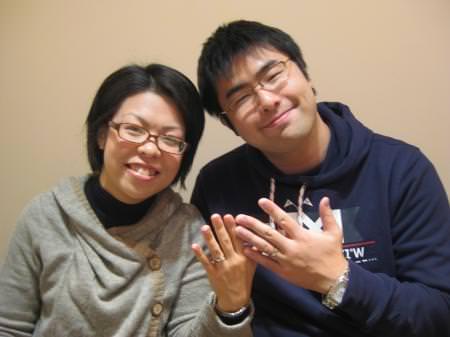 12123001木目金の結婚指輪Y001.JPG