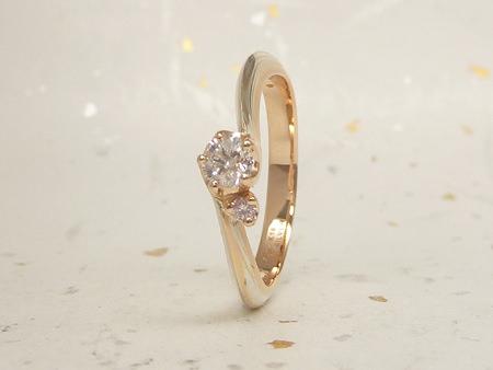 13063002木目金の結婚指輪と婚約指輪_C002①.JPG