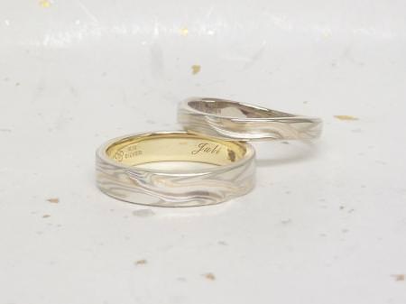 13072701_木目金とグリ彫りの結婚指輪_002.JPG