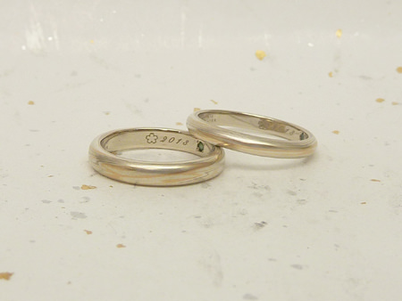 13073196木目金の結婚指輪M002.JPG