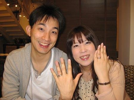 14051036木目金の婚約結婚指輪Y001.JPG