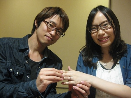 14083104木目金の婚約指輪_G001.JPG